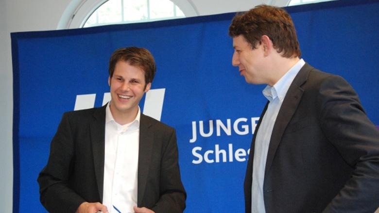 JU Landesvorsitzender Frederik Heinz mit Philipp Mißfelder.