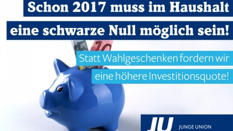 Haushaltsentwurf 2017 ist nicht generationengerecht