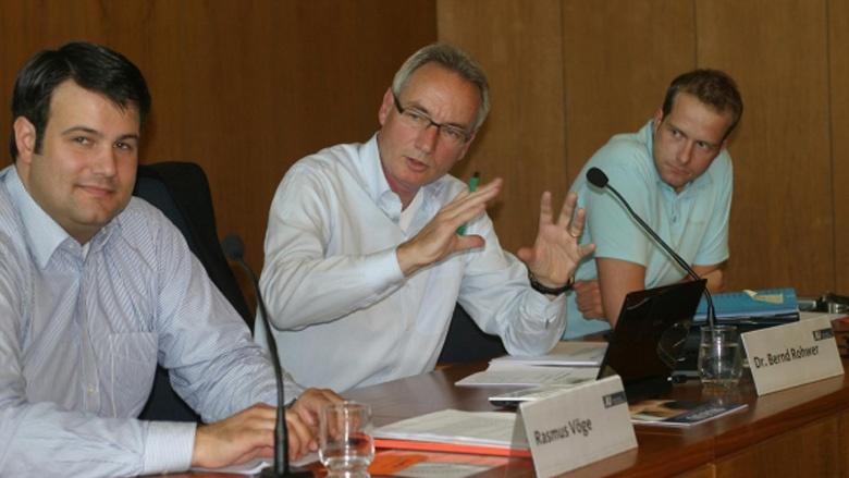 Rasmus Vöge, Bernd Rohwer und Oliver Fraederich