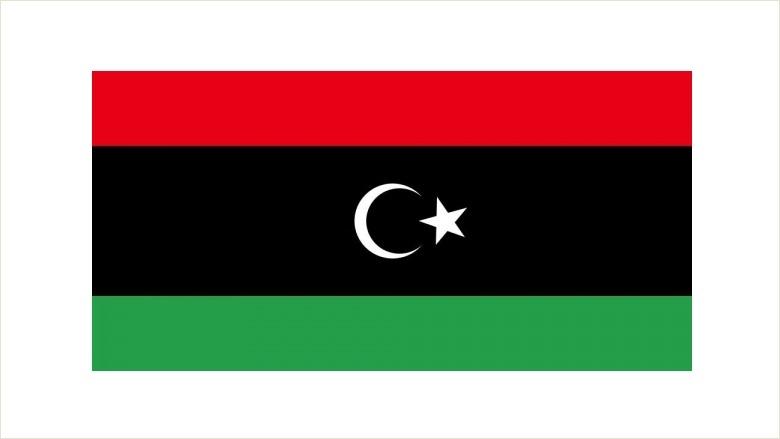 Bei den Protesten zumeist die Flagge des Vereinigten Königreichs Libyen verwendet.